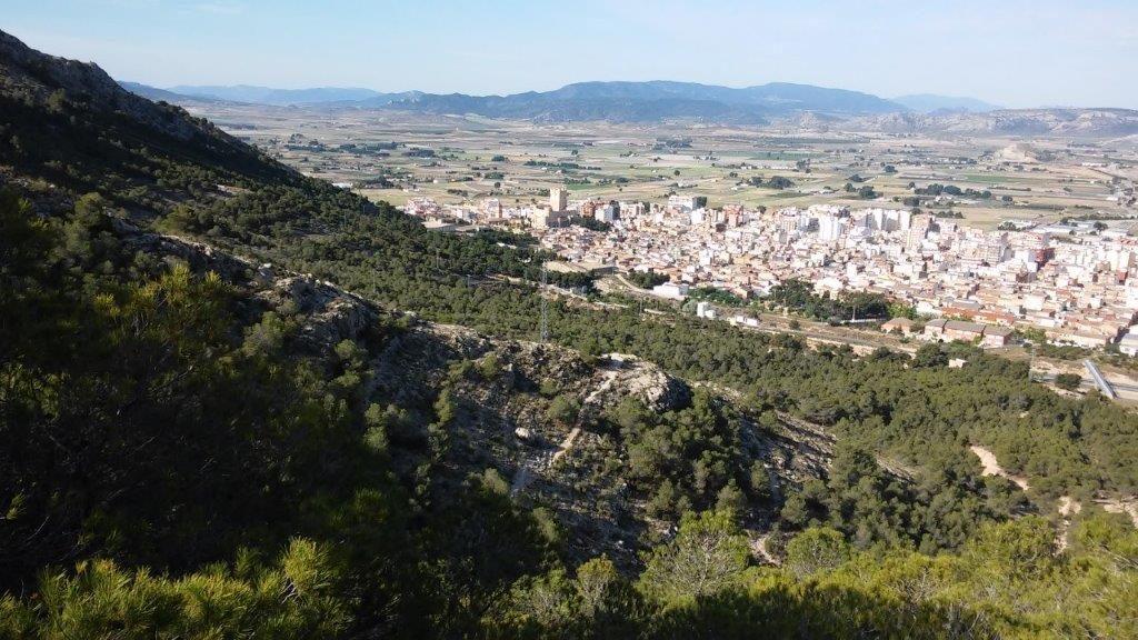 Vista de Villena desde la Sierra de la Villa