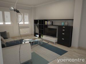 Vivienda de Obra Nueva en Villena (imagen de realidad virtual con la vivienda decorada)