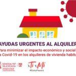 Ayudas Covid-19 para inquilinos. Generalitat Valenciana. Convocatoria 2021